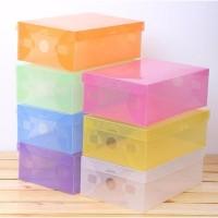 Jual 6 Buah Kotak Sepatu Transparan Anti Dust / Anti Jamur - Diskon Murah