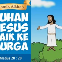 Jual Komik Alkitab TUHAN YESUS NAIK KE SURGA Murah