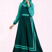Baju Gamis Mutif Model -168 Hijau Denim