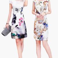 Jual Dress Wanita Import Baju Pesta Import Satin Kekinian 715 Murah