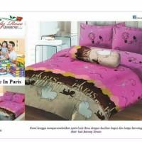 Sprei Rumbai Lady Rose Uk 180 X 200 Motif Love in Paris BERKUALITAS