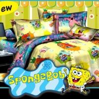 Jual BO7 Sprei 2 in 1 Fata Signature Uk 120 X 200 Motif SpongeBob Murah
