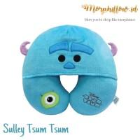 Sulley Monster Inc Tsum Hoodie Neck Pillow Bantal Leher Karakter Lucu