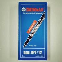 Jual Spidol OHP Snowman OPF (12pcs/Lusin) Murah
