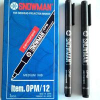 Jual Spidol OHP Snowman OPM (12pcs/Lusin) Murah