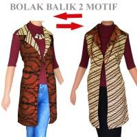 Jual Tunik Batik Jas Panjang Bolero Cardigan Rompi Panjang A229 Murah