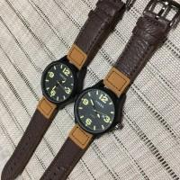 Jam Pria Fossil leather 2tone