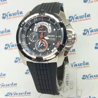 Seiko Velatura SPC007P1 Yachting Timer Black Dial - Jam Pria SPC007