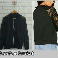 Jual TERBARU Jaket wanita bomber brukat jaket murah Murah
