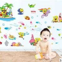 Jual Wall Sticker atau Sticker Dinding Kode 312 Spongebob Holiday Murah