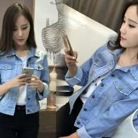 Jual jaket Nayla jeans RO jaket wanita jeans wash biru muda Murah