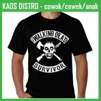 Jual Kaos The Walking Dead 46 XE46 Oblong Distro Murah