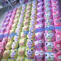 Jual souvenir ultah bantal OWLplus LOGO/ bs desain souvenir pernikahan Murah