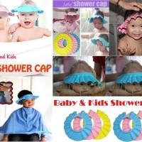 Topi Keramas Balita - Baby Shower Cap / Shower Cap Baby Topi Cute
