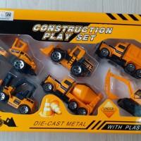 DIE CAST MOBIL KONSTRUKSI ALAT BERAT CONSTRUCTION PLAY SET SUPER BUILD