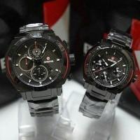 Jual New!!!Jam tangan Couple expedition E6385 Rantai Black O Grosir Murah