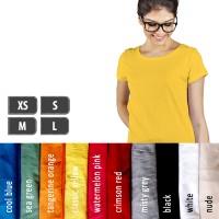 Jual Kaos Polos Lengan Pendek Wanita 100% Soft Combed XS S M L Murah