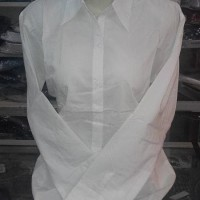 CUCI GUDANG Kemeja Putih Polos Panjang Untuk Wanita / Cewe Murah 058