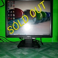 LCD Monitor Komputer PC Acer 17inch square AL1716ab