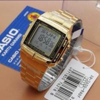 Jam Tangan Wanita Original Casio Data Bank DB360 Gold Original