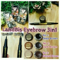Jual new produk KHUSUS NO 3 LANDBIS EYEBROW GEL 3in1 with Eyeliner + Brush Murah