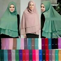 Jual Khimar hijab Jilbab Ceruti Jumbo Instan 2 layer Murah