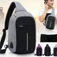 Jual tas slempang kantor gadget kerja kuliah pria selempang ransel slingbag Murah