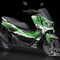 Decal Sticker Modifikasi NMAX Hitam – Hayabusa Green