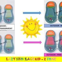 Jual 12pcs Lazy Shoelace KID 2TONE / Tali Sepatu Silikon ANAK2 - 12PCS/PACK Murah