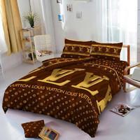 Sprei Kintakun D'luxe 120 x 200 LV Louis Vuitton ( Single size )