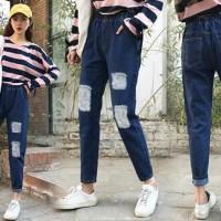 Jual Celana Boyfie Misel DARK Celana Jeans Cewek Terbaru Ripped Sobek Murah