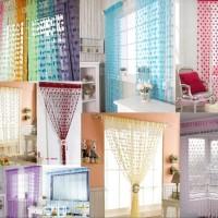 Jual Tirai Benang Motif Love Korean Style Gorden Dekorasi Interior Bathroom Murah