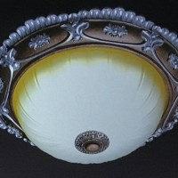 lampu hias plafon classic led bahan gypsum & kaca GARANSI PENGIRIMAN