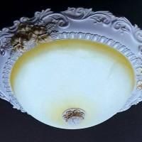 lampu dekorasi plafon classic led gypsum & kaca GARANSI PENGIRIMAN