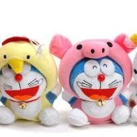 Jual Murah Boneka Rekam Karakter Doraemon Zodiac Shio Doll Toy Recorded Murah