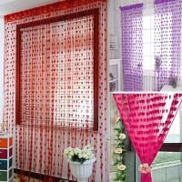 Jual Murah Tirai Benang Motif Love Korean Style Gorden Dekorasi Interior Murah