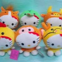 Jual Murah Boneka Rekam Karakter Hello Kitty Zodiac Shio Doll Recorded Murah