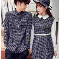 Harga baju couple dress kotak kaos couple fashion couple | Pembandingharga.com