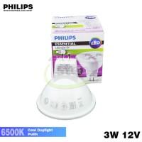 Jual PROMO Lampu LED Philips Essential LED MR16 3W 12V Putih 3 Watt Halogen Murah