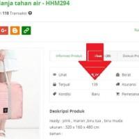 Jual TAS TRAVEL BESAR LIPAT ANTI AIR TRAVEL FOLD BAG WATERPROOF - HHM294 Murah