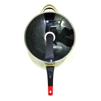 Jual Omicko 32CM Wok - Multi Use Wok Ceramic Marble Cookware Murah