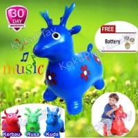 KokaPlay Jumping Animal Music Kids Toy Mainan Balon Kud Berkualitas