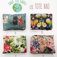 Jual Tas Belanja Lipat / Baggu Bag Motif / Tote Bag Fashion Murah