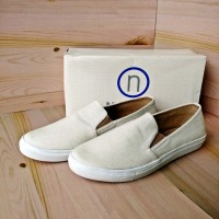 Jual Sepatu Flat Kulit Wanita Slip On NEVADA 6489PT White Original Matahari Murah