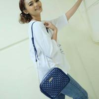 Jual Tas fashion selempang import korea style sling studded bag Navy blue Murah