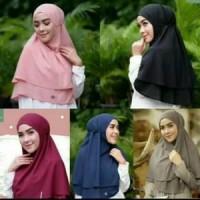 Jual Instan Hijab Double Layer Bergo Maryam / Bergo Maryam 2 Layer Hijab In Murah