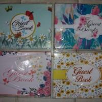 Buku tamu undangan motif bunga Promo beli 1 dapat 1