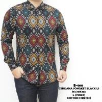 Baju Kemeja Pria Tangan Panjang Batik Songket Keren Gaya Trendy