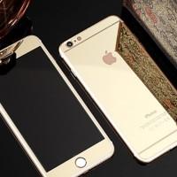 Jual Iphone 5 5s Gold colourful Tempered Glass Mirror antigo Diskon Murah