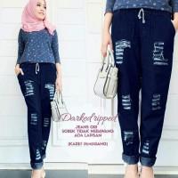 Jual HV 143071 celana jeans dark ripped  Murah